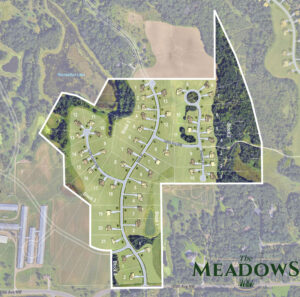 Site Plan Rendering of The Meadows at Petersen Farms