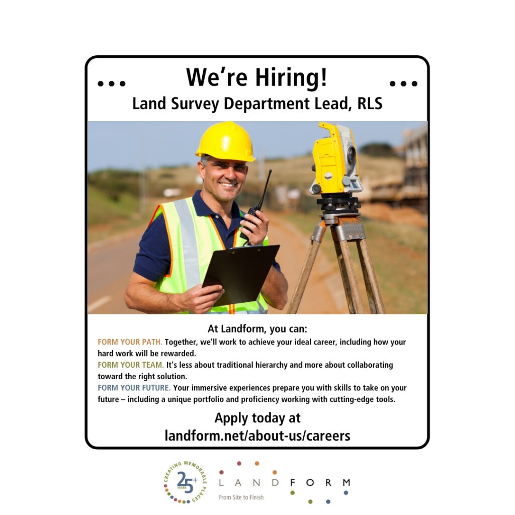 Now Hiring Land Surveyor Minneapolis Minnesota Landform Elk River