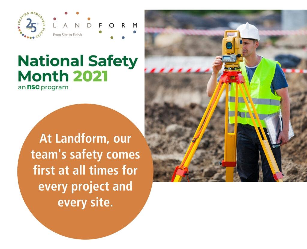 National Safety Month Land Surveying Landform Minneapolis Minnesota